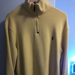 Ralph lauren half zip sweater large yellow